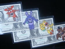 HAND PAINTED -FIVE NIGHTS AT FREDDYS - ART WORK , REAL MONEY ONE DOLLAR BILLS