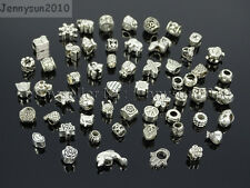 Tibetan Silver Big Hole Connector Metal Spacer European Charm Beads Findings #2