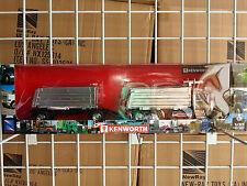 1/32 NEW RAY KENWORTH W900 SEMI DOUBLE DUMP TRAILER DAY CAB BLACK W/YELLOW STRIP