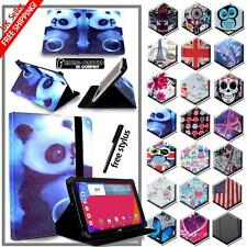 New Folio Stand Leather Cover Case For Various LG G Pad Models Tablet + STYLUS