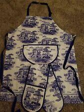 Pimpernel Spode BLUE ITALIAN Cloth Oven Glove & Apron