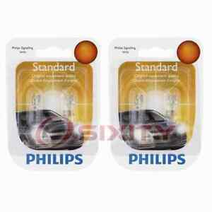 2 pc Philips License Plate Light Bulbs for Saturn Ion SW1 SW2 Vue 1993-2007 hn