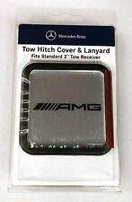 "Mercedes-Benz Genuine AMG 2"" Tow Hitch Receiver Plug Cover & Lanyard NEW G ML GL"