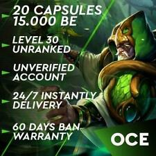 🎈 League of Legends LOL OCE Account Smurf 40.000 - 60.000 BE Unranked Level 30