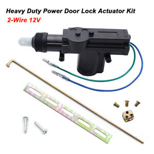 Car Central Power Door Locking Actuator Remote Kit 2-Wire Keyless Entry Lock