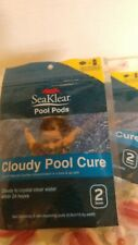 2 Bags of Seaklear Pool Pods- Cloudy Pool Cure- Toss and Go 2 -Doses Per Bag