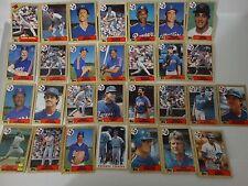 1987 Topps Texas Rangers Team Set of 29 Baseball Cards