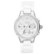 NIB DKNY Broadway White Ceramic Quartz Ladies' Watch NY8894 MSRP $275
