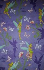 LINED VALANCE 42X16 TINKERBELL FAIRY SWEET TINKER BUTTERFLY FLORAL FLOWER GARDEN