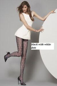 Oroblu Cloe tights, 20 denier, sheet to waist, polka-dot pattern, flat seams