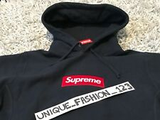 SUPREME BOX LOGO HOODED SWEATSHIRT M NAVY BLUE MEDIUM FW16 HOODIE 2016 BOGO