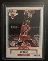 Michael Jordan 1990-91 90-91 Fleer #26 Chicago Bulls RARE VINTAGE *MINT* CARD
