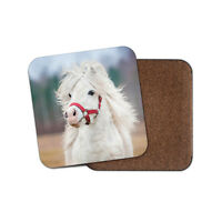 Beautiful White Pony Cork Backed Drinks Coaster - Horse Kids Animal #8337