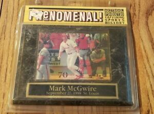 1998 Phenomenal! 70 Mark McGwire September 27, 1998 St. Louis Picture Plaque 8x6