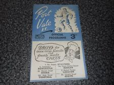 PORT VALE  v  TRANMERE ROVERS  1952/3 ~ AUGUST 25th  AUTOGRAPHED ***FREE POST***