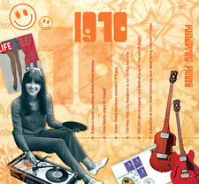 47th 1970 Birthday Gift - 1970 Compilation Pop CD and Year Greetings Card