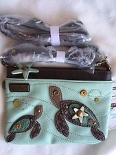 NEW CHALA SEA TURTLE MINI CROSSBODY CELL PHONE PURSE ADJUSTABLE STRAP GREEN
