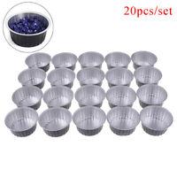 20Pcs Mini Bowl Aluminum Foil Melting Wax Bowl Waxing Body Hair Removal _DD
