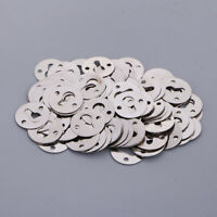 100Pcs Round 23mm Keyhole Hangers Hanging Hardware for Picture Frame 2 Hole