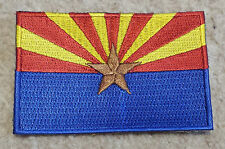 ARIZONA STATE FLAG PATCH United States of America Embroidered Badge 6 x 9cm USA