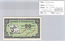 BILLET GUADELOUPE - 25 FRANCS - ND (1942) - SPECIMEN