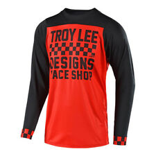 Troy Lee Designs Mountain Bike Maglia Skyline L/S Maglia; Checker Rosso/Nero 2X