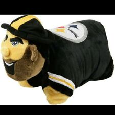 NEW Licensed NFL Pillow Pet Pittsburgh Steelers Authentic Mascot Fast Shipping