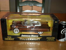 1955 Chevrolet, American Muscle, Die Cast Metal Factory Built Toy Car,Scale 1:18