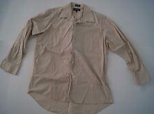 Covington Dress Shirt Beige Size 16 - 16 1/2 Sleeve 34/35 Casual Size Large Men