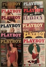 PLAYBOY Vintage MAGAZINES 1982 Full Set Of 12, SOME RARE COPIES INCLUDED.