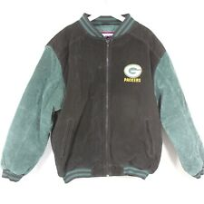 Vintage Pro Player Green Bay Packers Suede Coat Men's Large