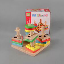 Wooden Wisdom Shape Column Toddlers Educational Toy