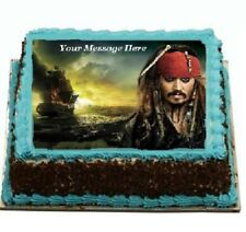 Pirates of the caribbean johhny depp Cake topper edible icing #850