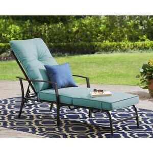 Rust Resistant Steel Frame Forest Hills Chaise Lounge w/ Plush cushions - Teal