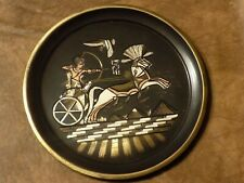 """Egyptian Decor Wall Tin Round Plate 6.5"""""""