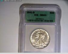 1941-D 50C Walking Liberty Half Dollar ICG MS63 ( 3s186 )