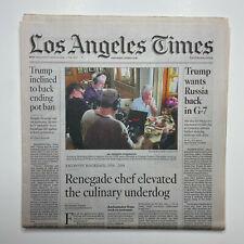 June 9 2018 LA Times Newspaper - Chef Anthony Bourdain dies dead / Warriors KD