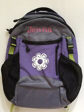 Pottery Barn Kids Small Colton Purple Gray Black Backpack with name JENNA New