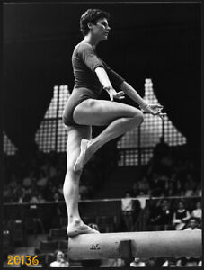 Larger Size Vintage Photograph, gymnast woman, sport,  1970's Hungary