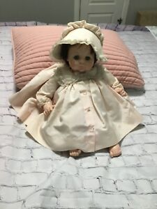 Vintage Crying Baby Doll, Life-Sized, with Blinking Eyes