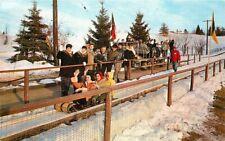 Amusement Toboggan Grossingers New York 1950s Postcard Bard 4732