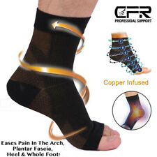 Copper Plantar Fasciitis Compression Socks Heel Foot Arch Pain Relief Support