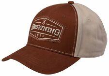 Browning Atlus Brick/Tan Cap Baseball Hunting Shooting