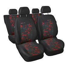 Opel Zafira 5-Sitze Rot Universal Sitzbezüge Schonbezüge Schonbezug Autositz