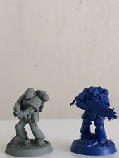 Space Marine true scale conversion Space Wolf model with sword mark III head