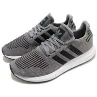 adidas Originals Swift Run Grey Black White Men Running Shoes Sneakers CQ2115