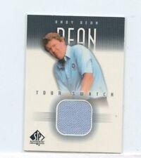 ANDY BEAN 2001 Upper Deck SP Authentic Tour Swatch Golf Shirt Relic Card #AB-TS