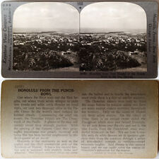 Keystone Stereoview HONOLULU, HI - Punch Bowl to Sea Version B 600/1200 Card Set