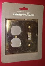 Baldwin solid brass outlet & toggle switch plate