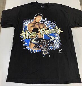 Vtg The Rock WWF 1999 Hardcore Collection T Shirt Size M/L Pro Wrestling